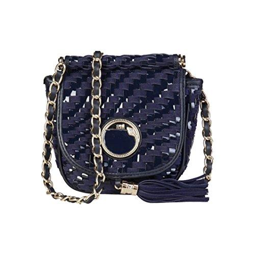 Cavalli Class - Sac porté épaule pour femme (C41PWCBU0012_080-BLUE) - Bleu