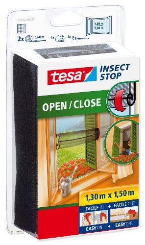 tesa Insect Stop Moustiquaire à ouverture et fermeture aisées Open/Close