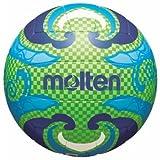 Freizeitball, weiches Synthetik-Leder, maschinengenäht - Farbe: Grün/Blau, Größe: 5