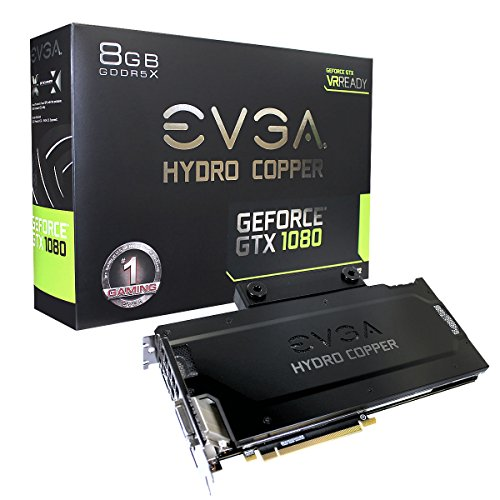 EVGA 08 G-P4 – 6299-kr NVIDIA GeForce GTX 1080 8 GB FTW Hydro rame scheda grafica Gaming, colore: nero