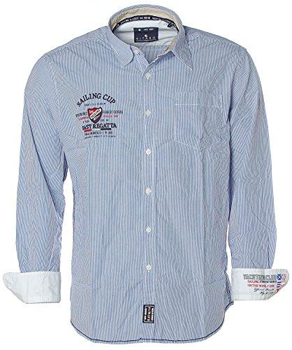 Kitaro -  Camicia Casual  - Classico  - Maniche lunghe  - Uomo Olympian Blue