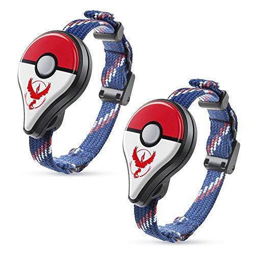 - Juego de 2 Pulseras con Bluetooth para Nintendo Pokemon Go Plus