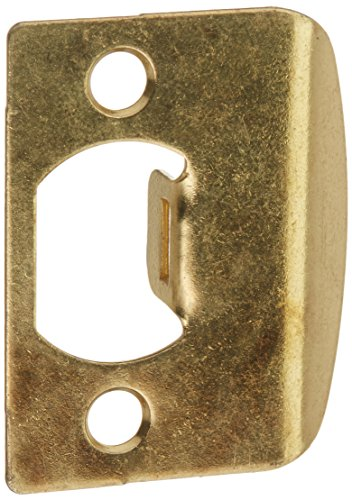 Kwikset Corporation 3437-01 3 STRK SQ CNR Full Lip Square Corner Strike in Polished Brass