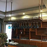 Casier à vin mur monté fer Stemware Rack stockage Racks moderne plafond...