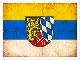 Posterlounge Alu Dibond 160 x 120 cm: Old Flag of Upper Palatinate in Grunge Style di Christian Müringer Illustration Art