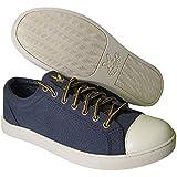Lyle & Scott Mens Blue Canvas Pump Trainers Cap Toe Trainers Slate New Boxed Size 7 UK