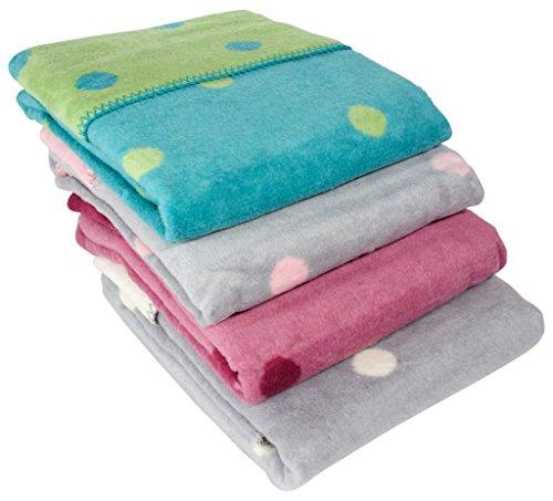 Manta de bebé ByBoomde forro polar 100% algodón, 75x 100cm con lunares, fabricada en la UE, color: burdeos/granate
