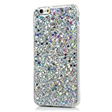 We Love Case for iPhone 6 6S Case, Premium Ultra Slim Thin Silicone Flexible TPU Soft Pattern Design Cute Clear Cover, Gel Plastic Protective Shock Absorption Proof Drop Defend Anti Scratch Shell for iPhone 6 6S - Silver