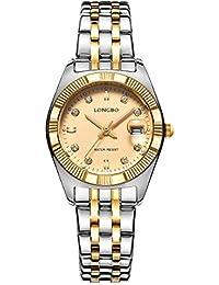 070b259784f8 Longbo de lujo chapado en oro correa de acero inoxidable negocio relojes  Datejust Lady vestido reloj