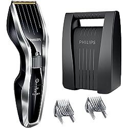 Philips HC5450/80 - Cortapelos con cuchillas de titanio y maletín, tecnología Dual Cut y función turbo, color gris