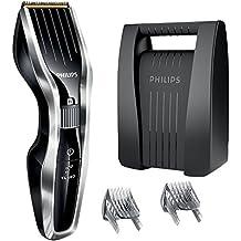 Philips HC5450/80 - Cortapelos con cuchillas de titanio y maletín, tecnología Dual Cut y función turbo, color negro y gris