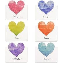 Kuuqa 36 Pices Heart Carte De Remerciements Avec Enveloppes Et Autocollants En Forme