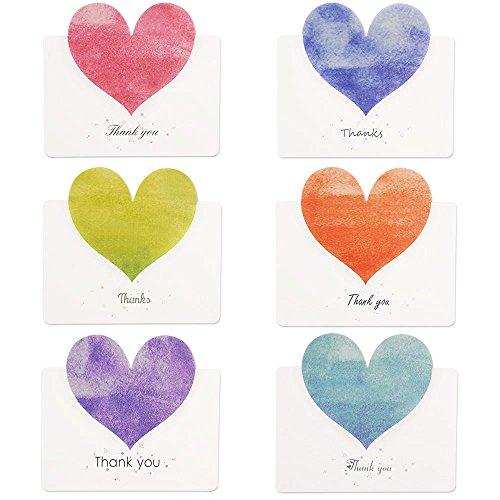 Kuuqa 36 Pedazos Corazón le Agradecen Tarjetas 36