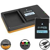 2 Baterías + Cargador doble (USB) para EN-EL14(A) / Nikon DF, D3100, D3200, D3300, D5100, D5200,...