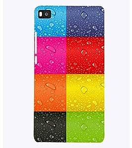 PrintVisa Corporate Print & Pattern Rain Colorful 3D Hard Polycarbonate Designer Back Case Cover for Huawei P8