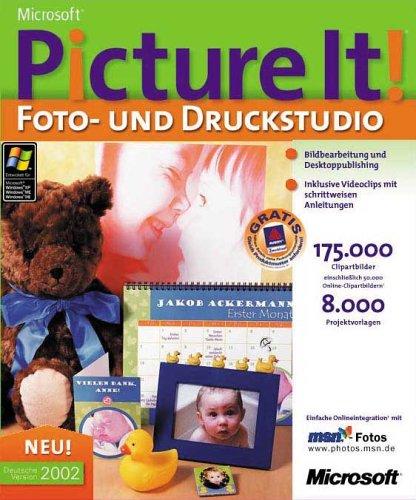 Microsoft Picture It! 2002 Foto- und Druckstudio DVD