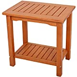 Beistelltisch Akazie geölt 50x35x50 Gartentisch Ablage Holz Holz Balkon Möbel