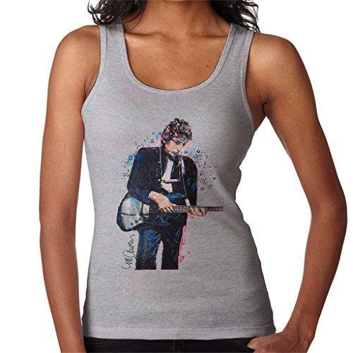 Sidney Maurer Bob Dylan On Bass Official Women's Vest Heather Grey