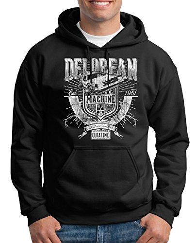 TLM Delorean Machine Outatime Sudadera con capucha para Hombre XXL negro