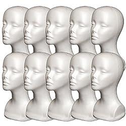 10PCs A1Pacific 13 STYROFOAM FOAM MANNEQUIN head wig display hat glasses