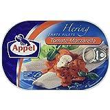 Appel Heringsfilets, zarte Fisch-Filets Tomate-Mozzarella, MSC zertifiziert, 200 g