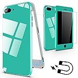 XINYUNEW Funda iPhone 6s,Funda iPhone 6, 360 Grados Integral +Protector de Pantalla de Vidrio Templado Anti-rasguño Bumper con Magnética Case Cover para iPhone 6/6s Verde