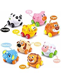 TryoKart My First Animals On Wheels (Set Of 8 Pieces) Baby Birthday Gift For 1 To 3 Year Old Child