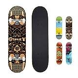 "Skateboard completo per tricks double kick Osprey, principianti deck acero 31"" x 8"""