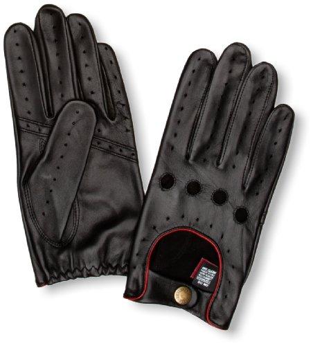 Dents Herren Handschuh   - Schwarz - Black/Berry - Größe L