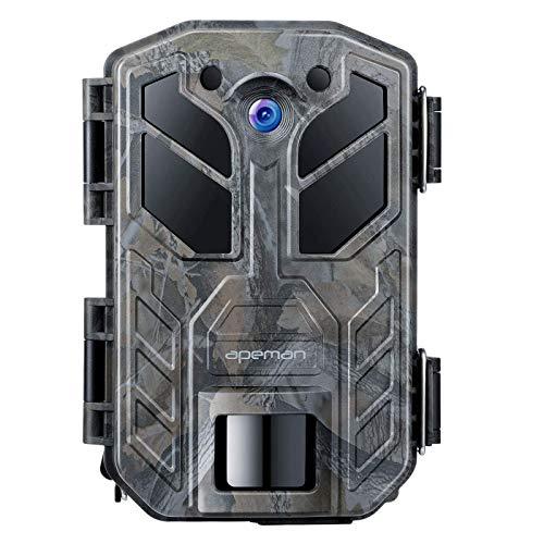 APEMAN Wildkamera 30MP 4K 40 IR LEDs Nachtsicht bis zu 65ft mit IP66 wasserdichte Überwachungskamera für Wildtierjagd und Heimsicherheit