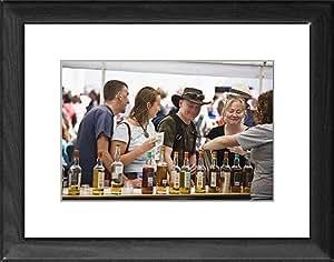 Tableau encadré Motif dégustation de Whisky au Bruichladdich distillerie
