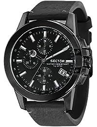 SECTOR Hommes Chronographe Quartz Montre avec Bracelet en Cuir R3271797003