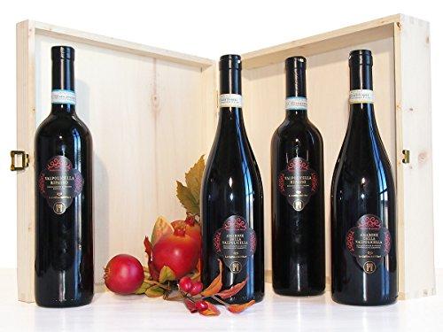 Amarone e Valpolicella Ripasso Regalo di Qualità : Regalo Vino in Cassetta Legno - cod 254