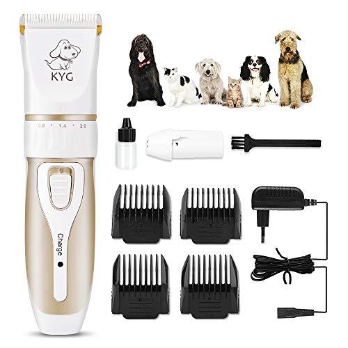 KYG Cortapelos Inalámbrico para Mascotas Bajo Ruido, Carga Rápida, con 4 Guías de Peine, Máquina Cortapelo para Perros… 12