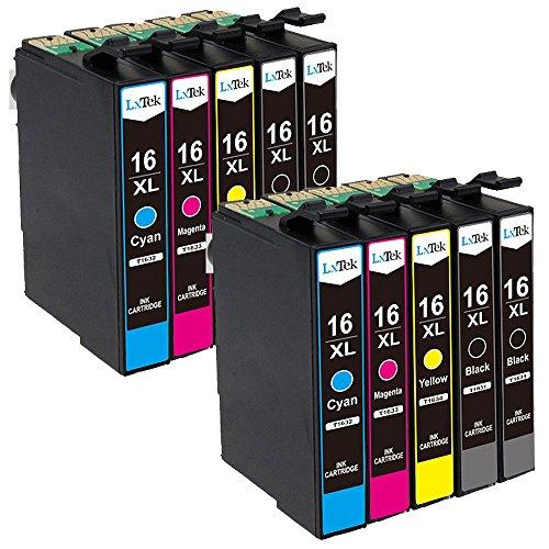 LxTek Ersatz für Epson 16 16XL Druckerpatronen Kompatibel mit Epson Workforce WF-2630 WF-2760 WF-2510 WF-2660 WF-2530 WF-2540 WF-2010 WF-2750 WF-2650 (4 Schwarz, 2 Cyan, 2 Magenta, 2 Gelb)