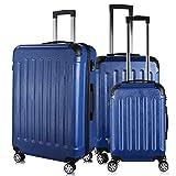 PRASACCO Reisekoffer Handgepäck Set 3 TLG.Für Flug Hartschalen Koffer Trolley TSA Ultraleicht ABS...