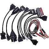 OBD2 1 Juego aparato de prueba diagnóstica para vehiculo (8 cables de Adaptadores)