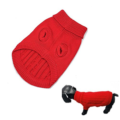 Losuya® Dog Warm Coat Cute Pet Puppy Cat Jumper Sweater Knitwear Apparel Clothes