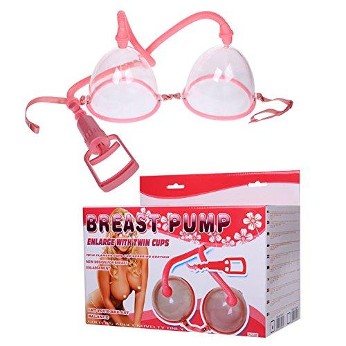 Sexy Weibliche Hand Brust Vakuumpumpe Brüste Vergrößern Brust Massage Wachstum Bustline Erhöhen Pumpe mit Twin Cups Saugen -