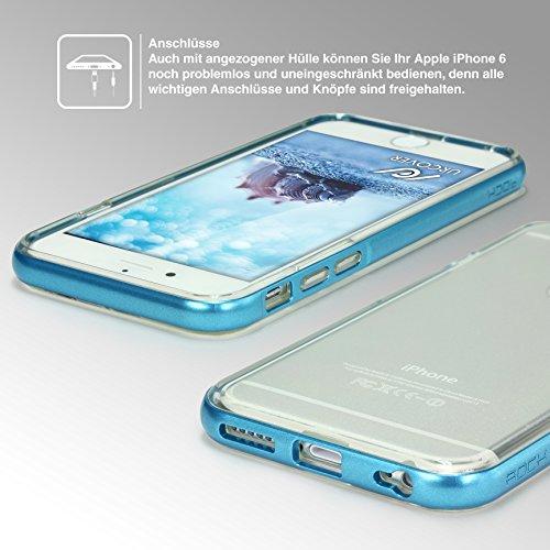 Original Urcover® Apple iPhone 6 Plus / 6s Plus Hülle Bumper mit [Flash Funktion] Handyhülle eingehender Anruf/SMS LED Flash Light Blink Function [Grün] mit TPU Rückseite Cover Case Etui Schutzhülle f Hell Blau