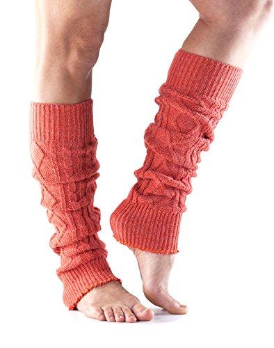 ToeSox, scaldamuscoli fashion al ginocchio per danza, yoga, pilates, fitness, Coral, Taglia unica Coral