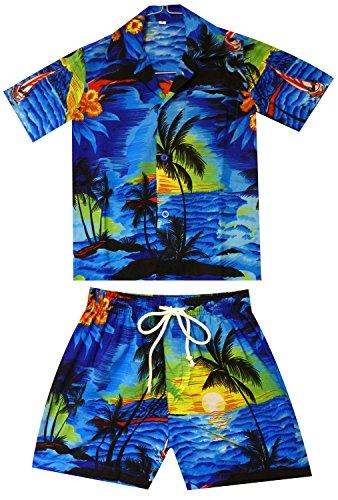 V.H.O. Funky Kinder Cabana Set, Surf, Blau, 6 Jahre (Shirt Jungen Aloha)