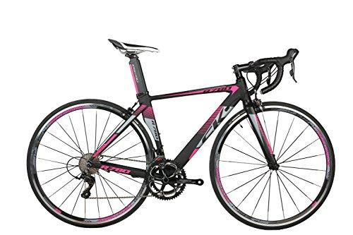 rich bit® R780Road Race bicicletta 18velocità 9marce cassette ultra leggero in fibra di carbonio forcella Shimano 3500700C * 46/48cm colori disponibili, Purple, 48 - Strada Del Carbonio Frame Set
