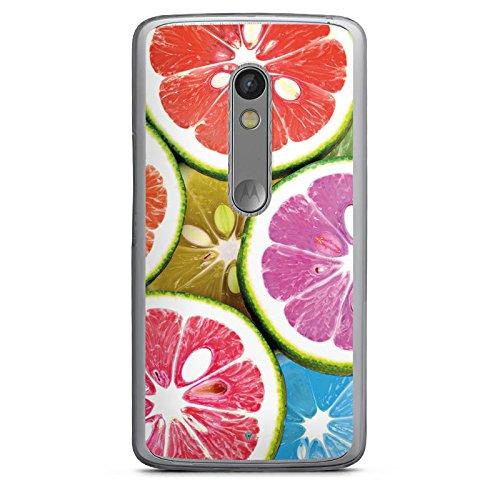 DeinDesign Lenovo Moto X Play Hülle Case Handyhülle Orange Lemon Swets