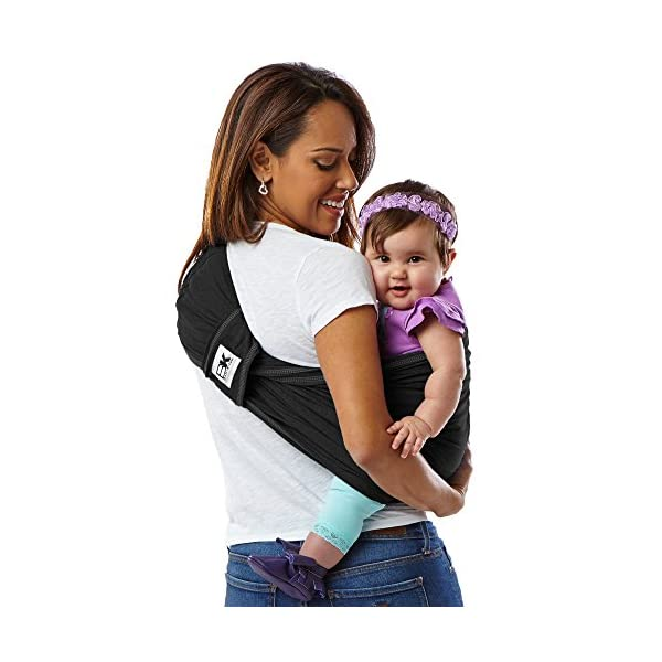 Baby K'Tan Baby Cotton Carrier (Large, Black) Baby Ktan Easy to use and put on: NO WRAPPING INVOLVED.  6 positions to conveniently carry baby & toddlers from 8 lbs to 35 lbs 100% soft natural cotton with unique one-way stretch Unique HYBRID double-loop design holds baby securely and evenly distributes weight across back and both shoulders. Washer & dryer safe 15