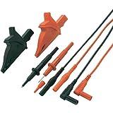 Set de cordons de mesure de sécurité VOLTCRAFT MS-5 [ Banane mâle 4 mm - Banane mâle 4 mm] 1.20 m noir, rouge