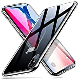 ESR 9H Gehärtetes Glas Hülle für iPhone X [Stoßfest] TPU Rahmen [Kratzfest] Durchsichtige...