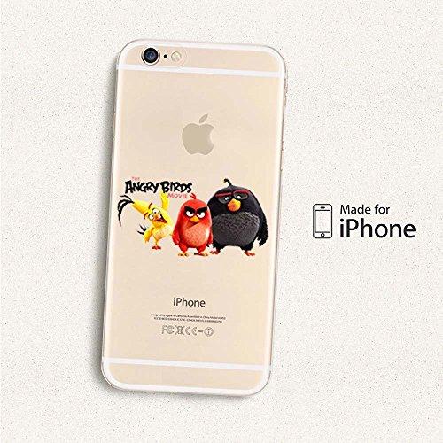Angry Birds Coque souple en TPU pour Apple iPhone 6/6S & 6+/6+ S, plastique, 3 BIRDS, APPLE IPHONE 6+/6+S ANGRY BIRDS