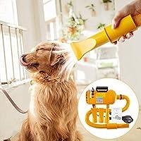 Topwill 2800W Secador Perro, Preparación Del Perro Secador de pelo Ajustable Velocidad del Viento y Rango de Temperatura Secador de Mascotas (Amarillo)