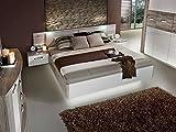 Romana Bettanlage 180x200 cm Sandeiche Dekor/Weiss, mit Bettbank